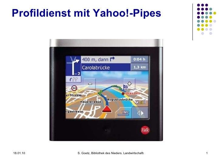 Elektronische Profildienste  mit Yahoo!-Pipes