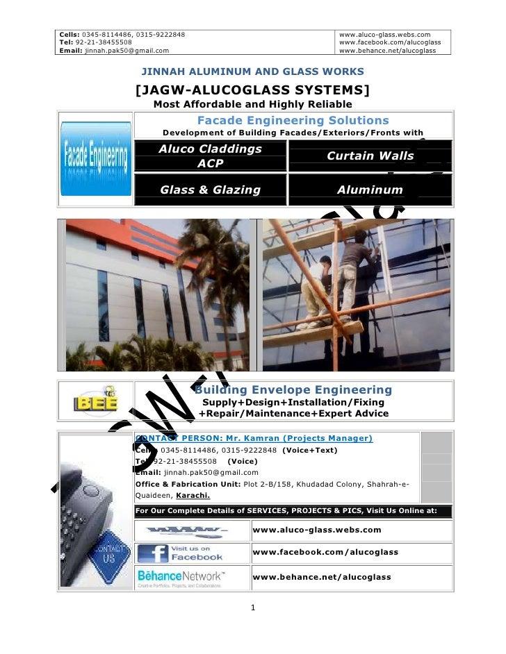 Cells: 0345-8114486, 0315-9222848                                    www.aluco-glass.webs.comTel: 92-21-38455508          ...