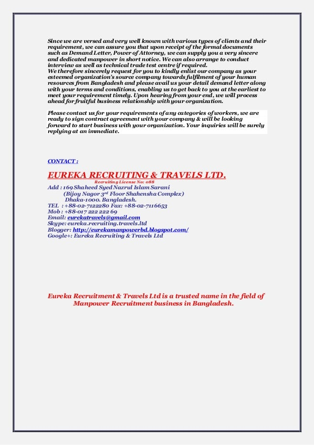 Eureka Recruiting & Travels Ltd