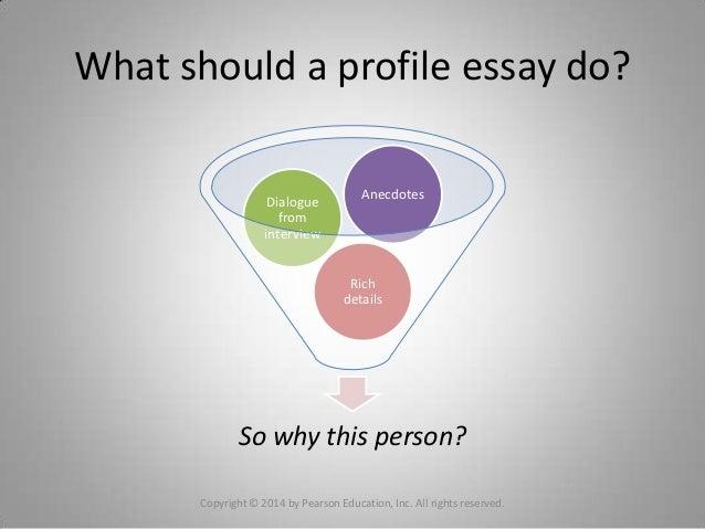 Profile essay assignment person