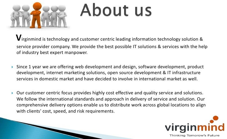 Web development company virginmind technologies company for Information technology company profile template
