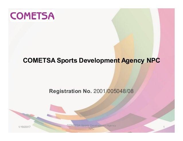 Profile - COMETSA Sports Development Agency NPC