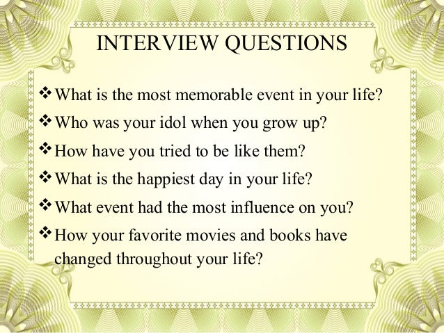 profile essay interview questions 5