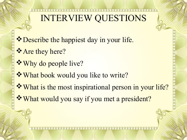 profile essay interview questions 8