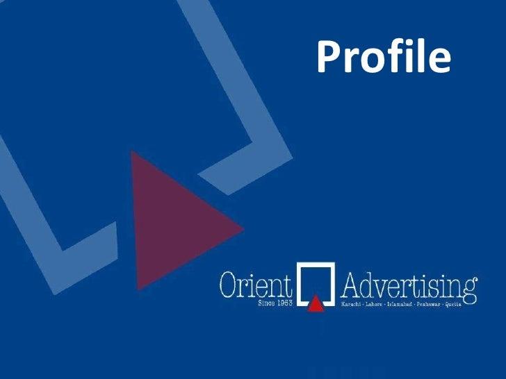 Orient Advertising - Profile