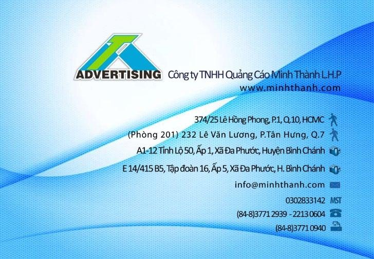 Về chúng tôi|About usLà công ty thiết kế và thi công các sản phẩm phục vụcho quảng cáo hàng đầu tại Việt Nam. Chúng tôiman...