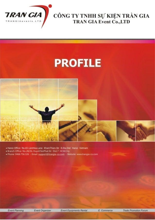 Profile Công ty Sự kiện Trần Gia