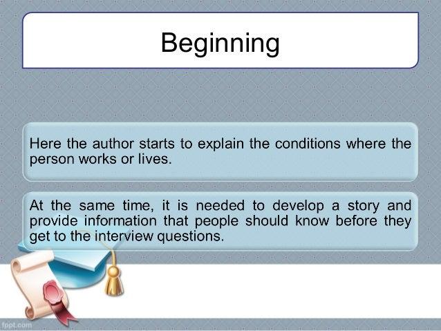 Profile Essay Outline