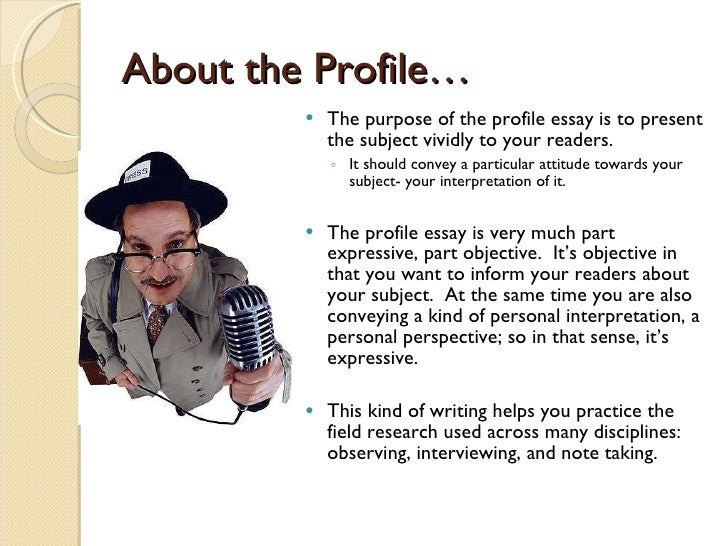 Profile essay on a person