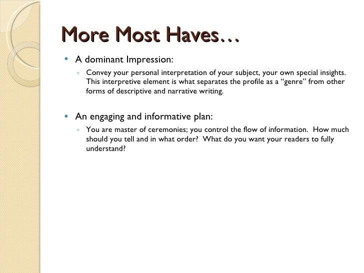 sample profile essays