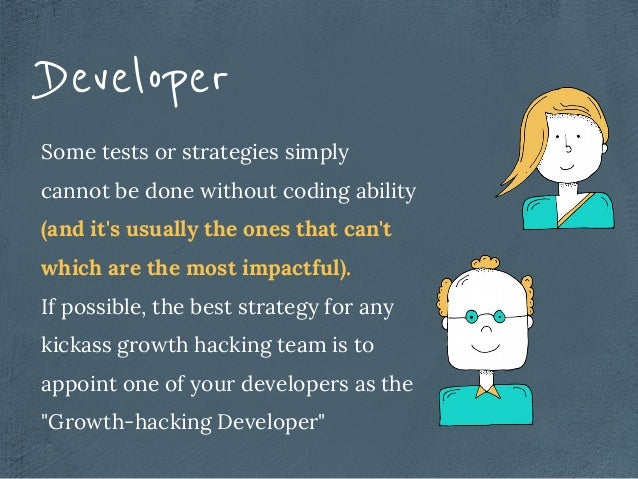 Developer Some tests or strategies simply cannot be done without coding ability (and it's usually the ones that can't whic...