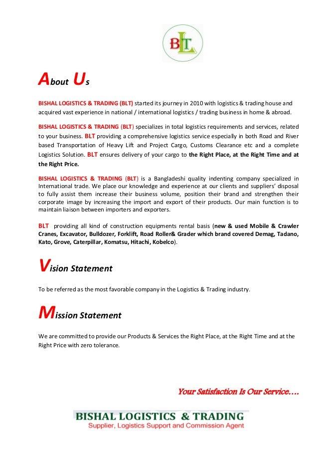 Profile of Bishal Logistics & Trading (BLT)