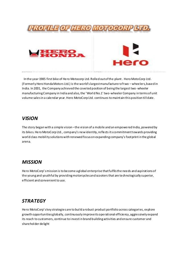 swot analysis of hero motocorp