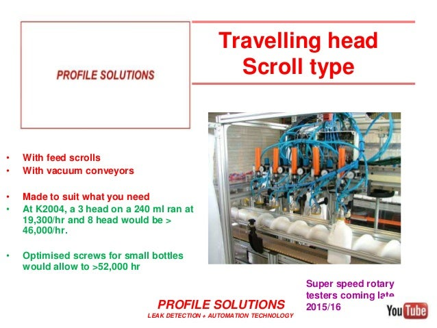 Travelling head Scroll type • With feed scrolls • With vacuum conveyors • Made to suit what you need • At K2004, a 3 head ...