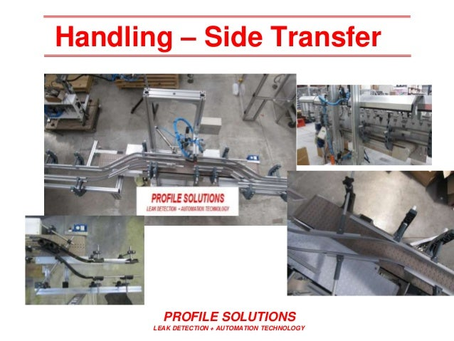 Handling – Side Transfer PROFILE SOLUTIONS LEAK DETECTION + AUTOMATION TECHNOLOGY
