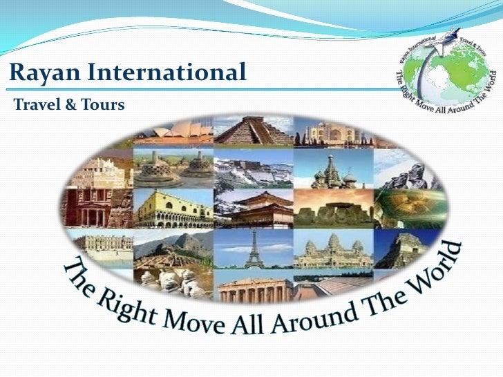 profile presentation rayan international travel tours