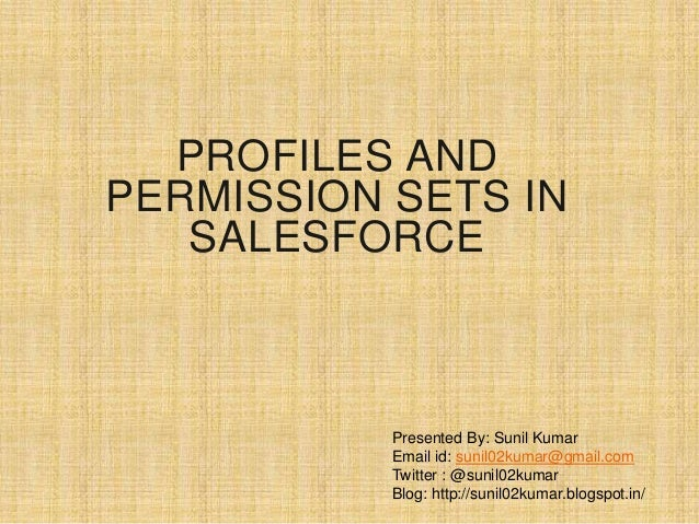 Profiles And Permission Sets In Salesforce