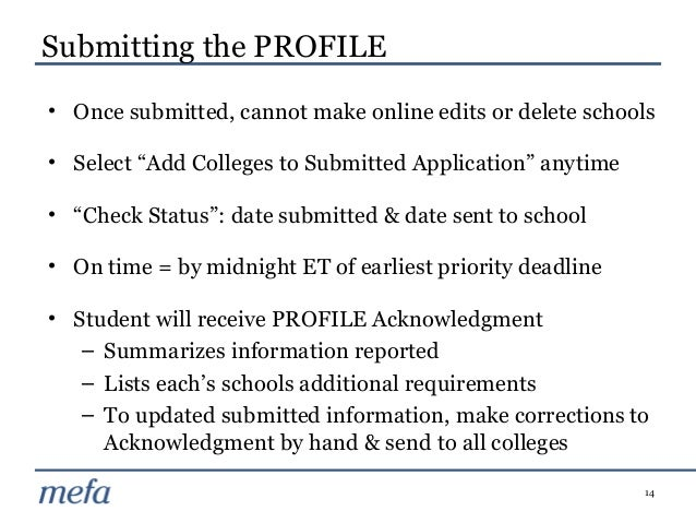 The CSS/Financial Aid PROFILE