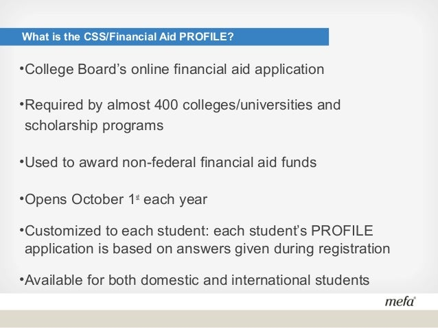 Css financial aid profile questions for dating 2