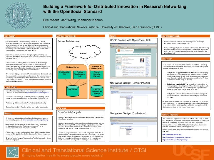 Building a Framework for Distributed Innovation in Research Networking                                                    ...