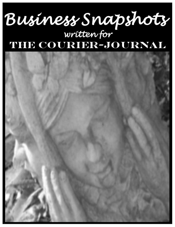 Business Snapshots      written forThe Courier-Journal