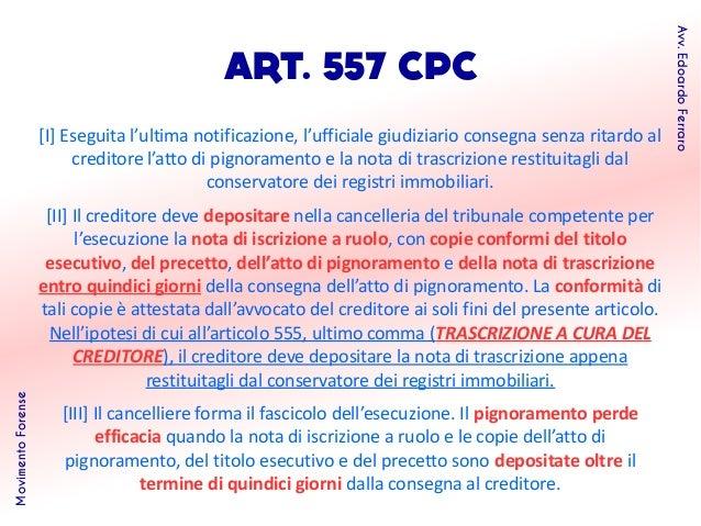 Profili del processo esecutivo telematico - Trascrizione sentenza conservatoria registri immobiliari ...