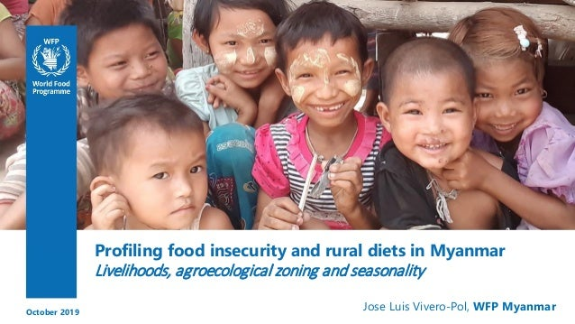 Profiling food insecurity and rural diets in Myanmar Livelihoods, agroecological zoning and seasonality Jose Luis Vivero-P...