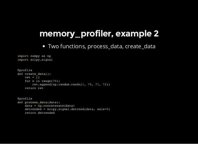 Profiling in Python