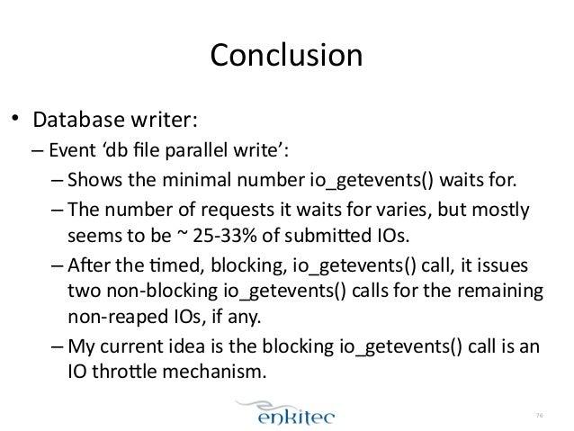 log file parallel write asynchronous pacing