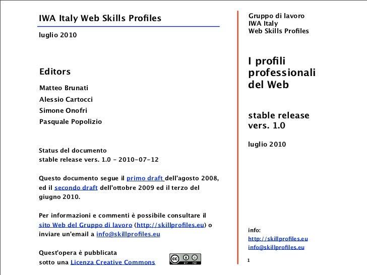 Profili professionali del Web