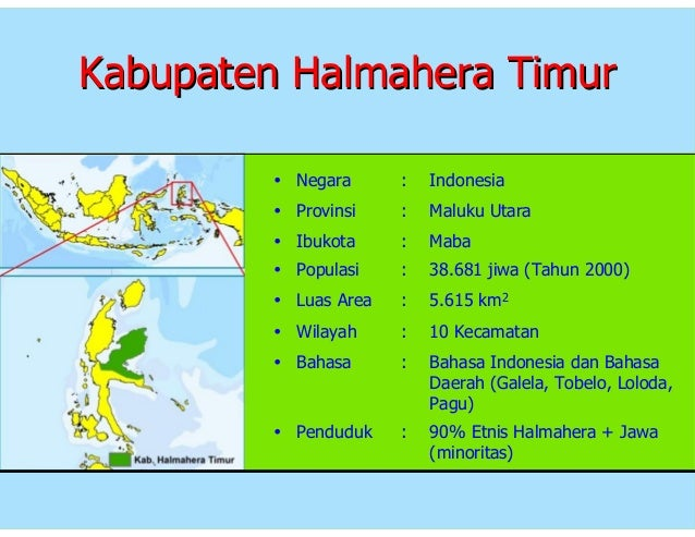Profil Kabupaten Halmahera Timur