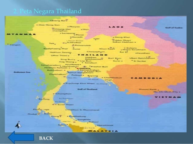 Profil Negara Asean Peta Thailand Gambar