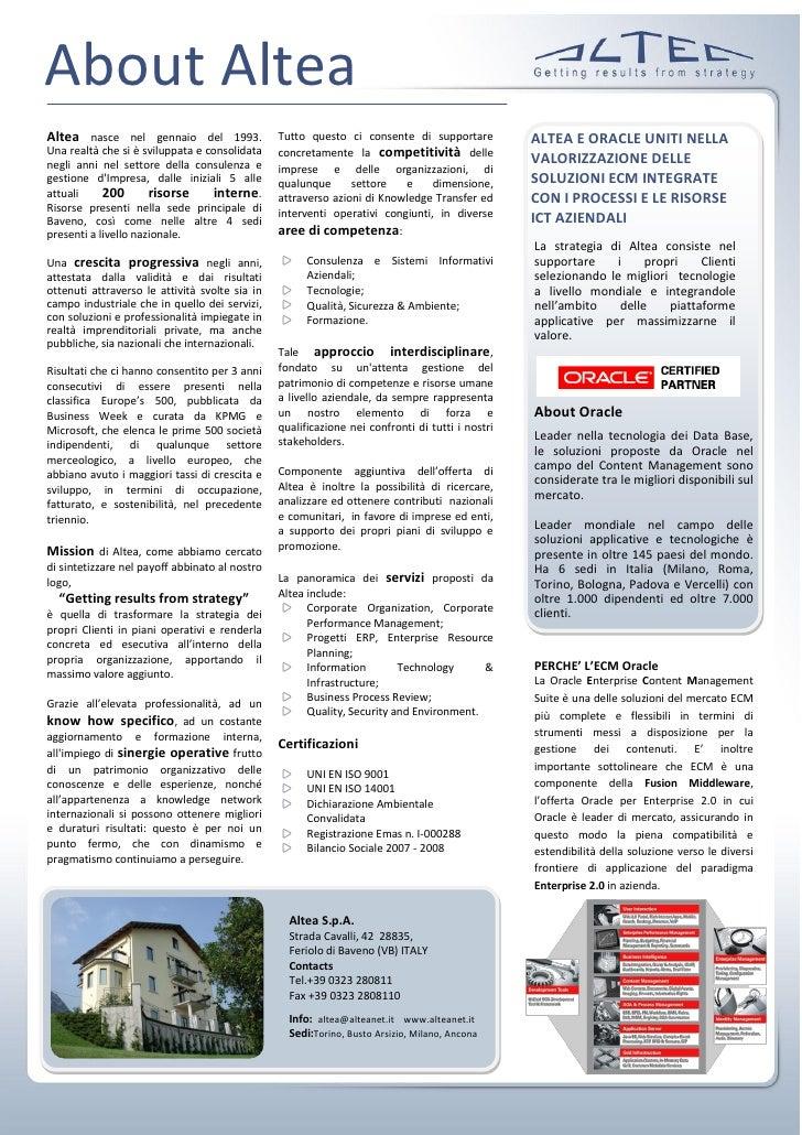 Profilo Altea UCM E&C