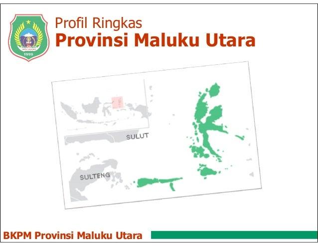 Profil Ringkas BKPM Provinsi Maluku Utara Provinsi Maluku Utara