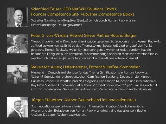 """""""Als alter Gamification-Skeptiker (Saulus) bin ich durch Roman Rackwitz ein Motivationsdesign-Paulus geworden!"""" Wienfried ..."""