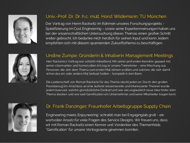 Der Vortrag von Herrn Rackwitz im Rahmen unseres Forschungsprojekts - Spielifizierung im Cost Engineering – sowie seine Ex...