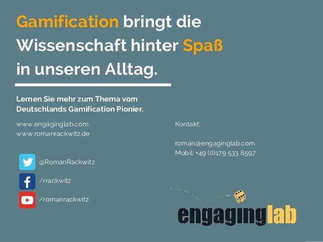 Gamification bringt die Wissenschaft hinter Spaß in unseren Alltag. Lernen Sie mehr zum Thema vom Deutschlands Gamificatio...