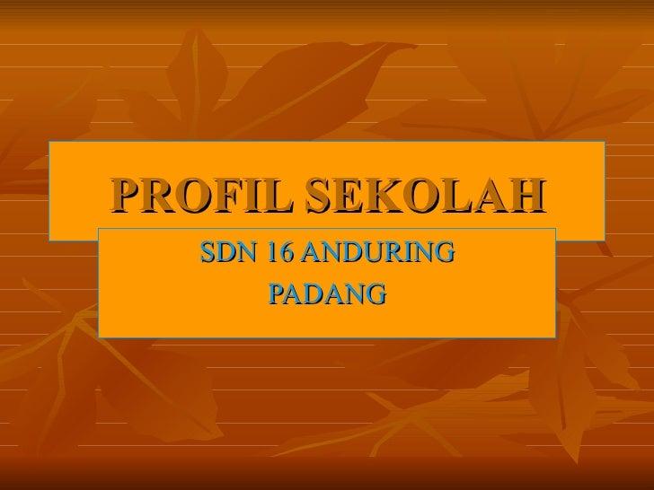 PROFIL SEKOLAH SDN 16 ANDURING PADANG