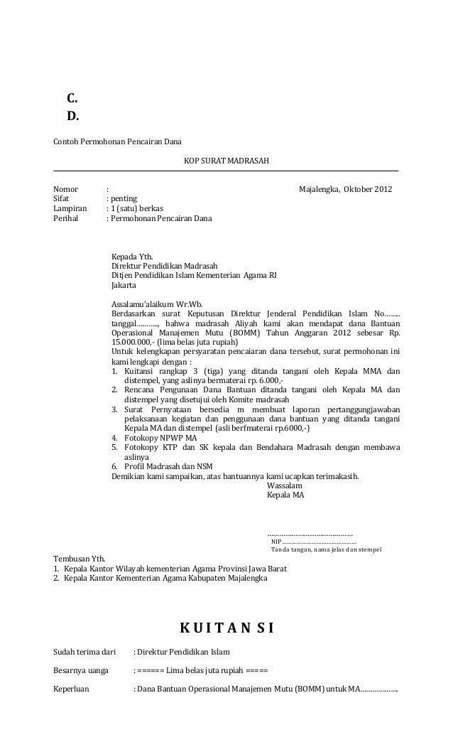 Format Surat Permohonan Pencairan Dana Altin Northeastfitness Co