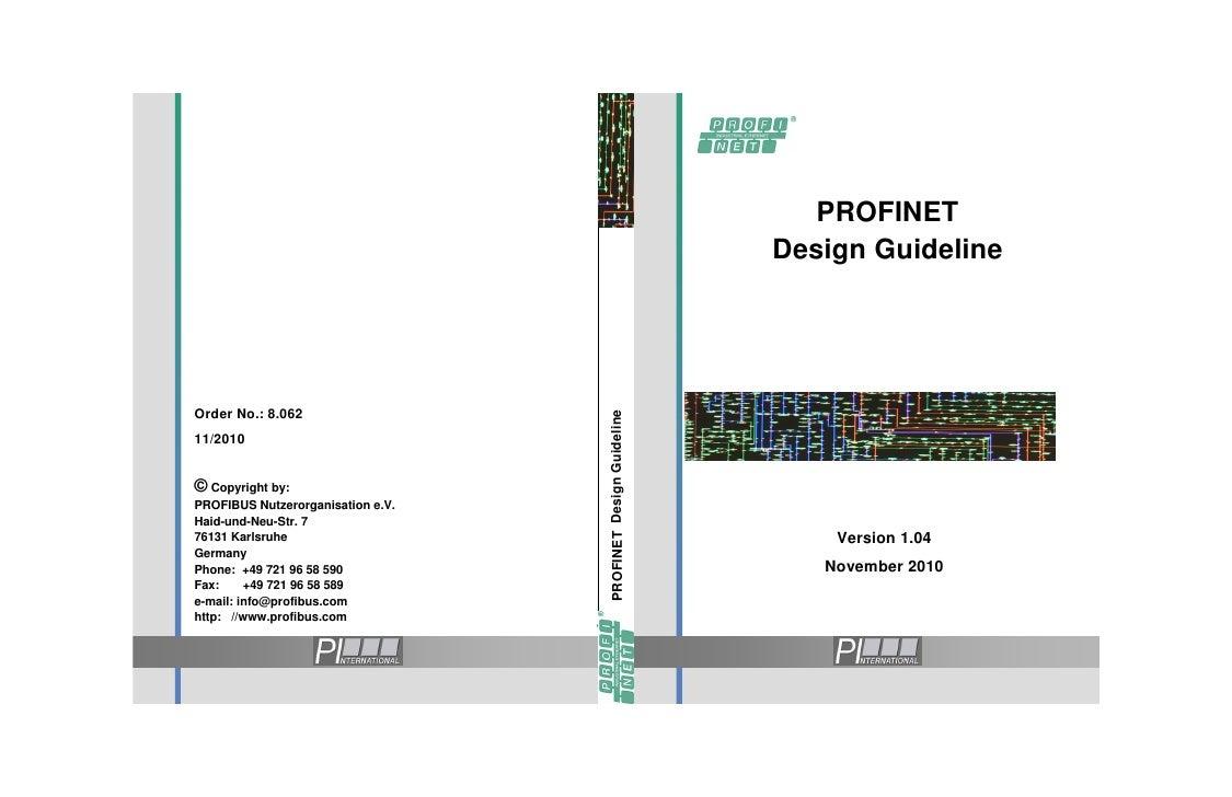PROFINET                                                               Design GuidelineOrder No.: 8.062                   ...