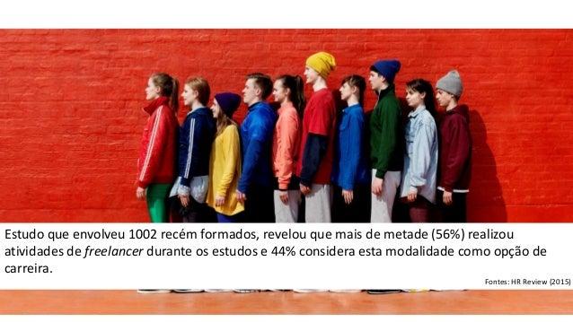 Estudo que envolveu 1002 recém formados, revelou que mais de metade (56%) realizou atividades de freelancer durante os est...