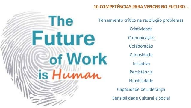 """""""No futuro, se quiseres um emprego, deves ser o mais diferente possível de uma máquina: CRIATIVO, CRÍTICO E BOM SOCIALMENT..."""