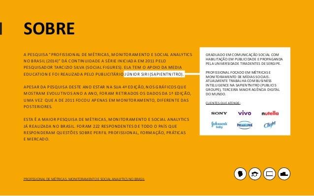 [Pesquisa] Profissional de métricas, monitoramento social analytics no Brasil (2014) Slide 2