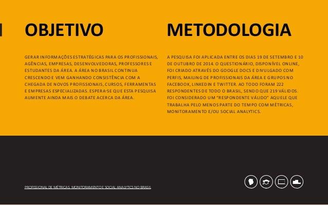 [Pesquisa] Profissional de métricas, monitoramento social analytics no Brasil (2014) Slide 3