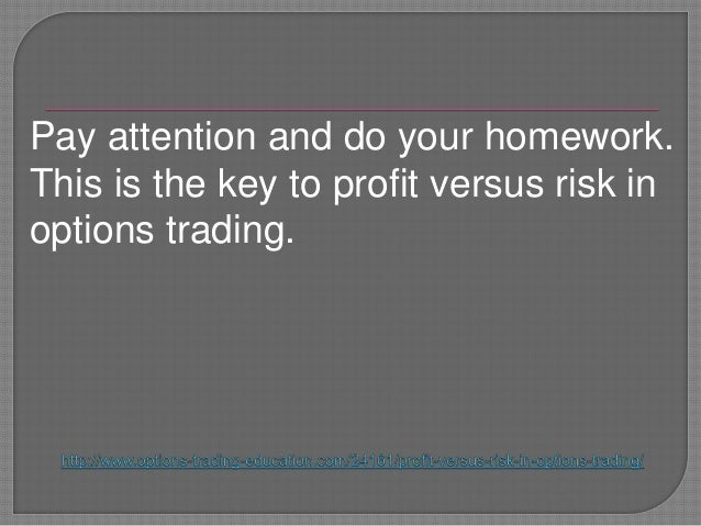 Options trading risk