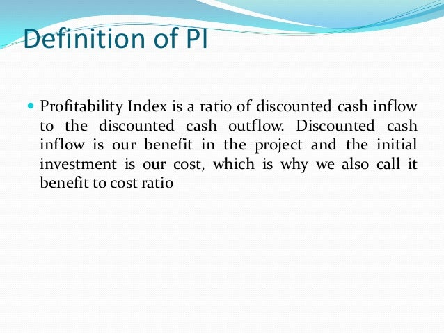profitability index formula