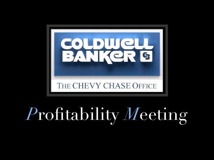 Profitability Meeting
