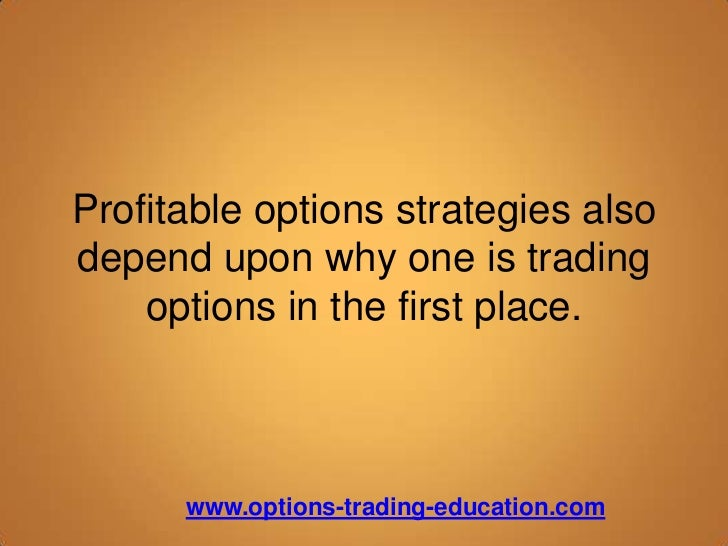 Profitable options trading strategies