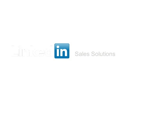 Sales SolutionsProfit From Your Profile:How to Generate New Business Using LinkedInAnita Windisman – Sales Product Consult...