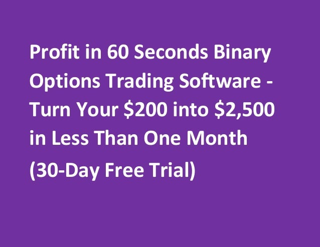 Software to trade binary options